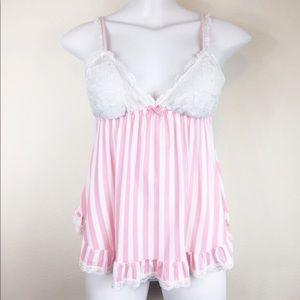 VS pink & white lingerie babydoll